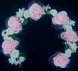 Artificial Pink Flowers Hair Brooch
