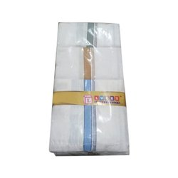Men Striped Handkerchief, Hand Wash, Machine Wash, Size: 21x21 Inches