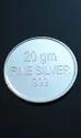 20 Gm. Coloured Laxmi Ganesh Saraswati Silver Coin