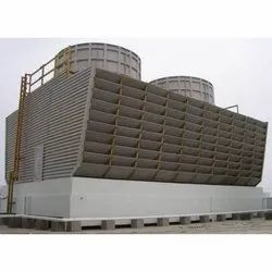 Square Cross Flow Timber Cooling Tower, For Industrial, Induced Draft
