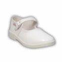 Girls White School Shoes