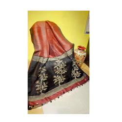 Silk Linen Jamdani Sarees