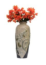 Beautiful Off White Textured Vase