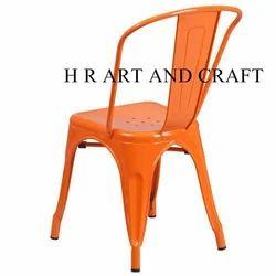Polished Orange Metal Chair