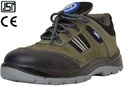 Allen Cooper Black Leather Industrial Safety Shoes