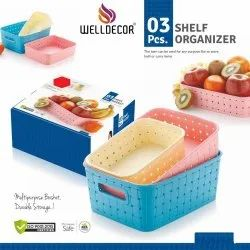 Welldecor Shelf Organizer(3pcs.)