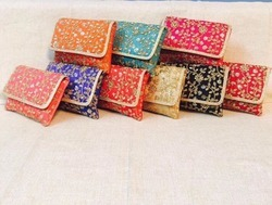 Embroidery Zari Work Clutch Bags