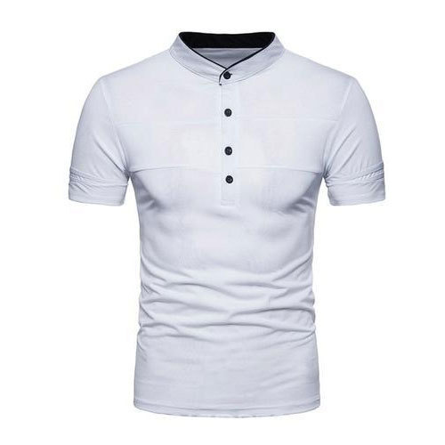 58854549029 Mens Cotton Half Sleeve Collar T-Shirt