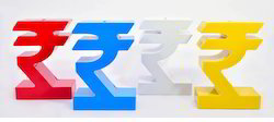 Rupee Symbol Style Money Coin Banks