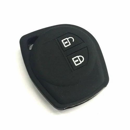 Plastic Black Silicone 2 Button Remote Key Cover