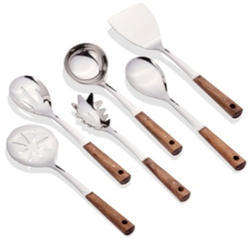 Solo Stainless Steel Wooden Serving Range