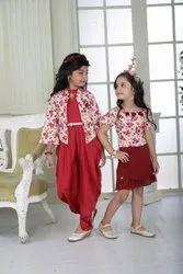 Elegant Red Floral Print Stylish Dress