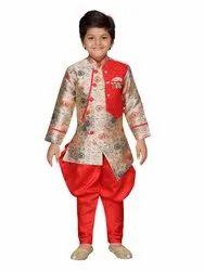 AJ Dezines Jacquard Wedding Wear Kids Sherwani And Breeches Set for Boys