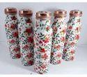 Premium Print Enamel Print Meena Print Copper Water Bottle