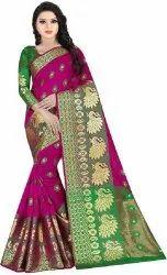 Kesar Peacock Cotton Silk Saree