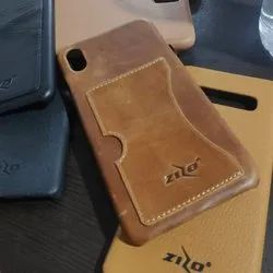Brown Leather Stylish Phone Back Cover