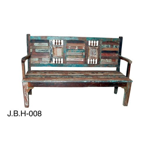 Antique Wooden Garden Bench