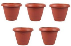 Red Plastic Planter