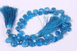 Apatite Briolette Heart Shape Beads Layout