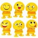 Smiling Face Spring Doll for Car, Car Ornaments, Bounce Toys, Emotion Figure