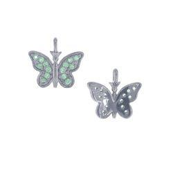 Tsavorite Gemstone Butterfly Charm Pendant