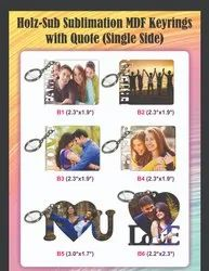 Gloss Wooden MDF Quote Sublimation MDF Key Chain Single Side