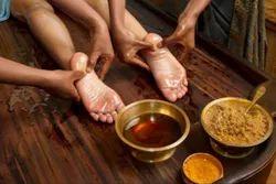 Ayurvedic Foot And Hand Massage Treatment