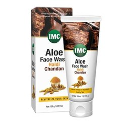 IMC Aloe Haldi Chandan Face Wash, Packaging Type: Box, Packaging Size: 100 G
