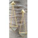 Anshay Creations Women Long Drop Triangle Earring