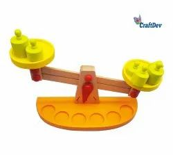 5 To 10 Years Wooden Balance Scale Toy, For School/Play School