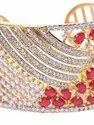 Priyaasi Ruby Golden Party Wear American Diamond Bracelet