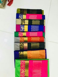 Zari Blended Silks Sarees, Length: 6 m (With Blouse Piece)