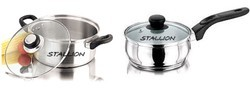 Stainless Steel Saucepan, For Cookware, Round