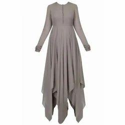 Grey Plain Ladies Fancy Dress