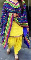 Yellow Patiyala Dress