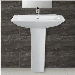 White Delphi Ceramic Pedestal Wash Basin