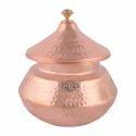 Brown Copper Biryani Handi, For Serving And Cookware