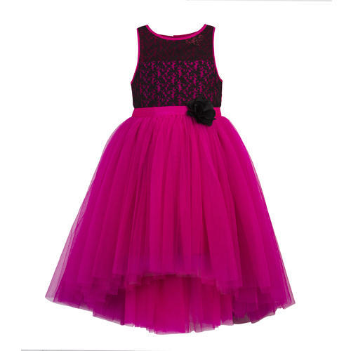 a5f7837de And 3-4 Year To 7-8 Years Pink Party Dresses For Kid Girls