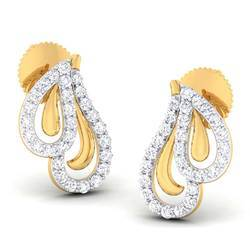 Stylish Diamond Gold Earring