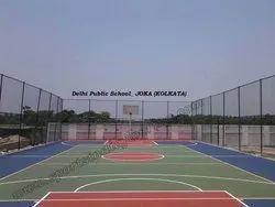 Acrylic Synthetic Outdoor Basketball Court Flooring