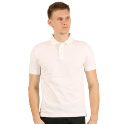 Gents Polo Neck White Half Sleeve Cotton T shirts