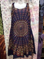 Cotton Traditional Block Printed Dress, Size: Medium