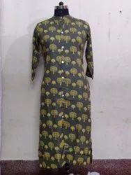 Designer Printed Cotton Kurti