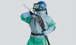 ABS Sand Blasting Hood Helmet, For Industrial, Size: Medium