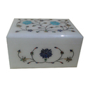 Handmade Marble Inlay Jewelry Box