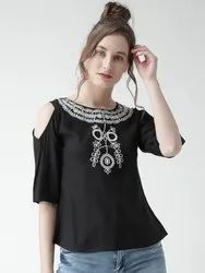 Ladies Embroidered Rayon Top