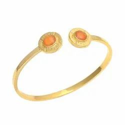 Gold Plated Carnelian Bangle