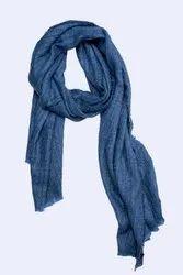 Ladies Blue Woolen Mufflers