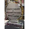 Appreciation Round Crystal Trophy