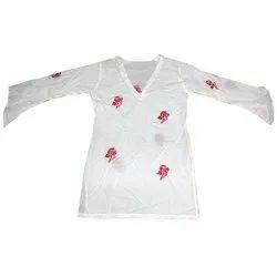 Full Sleeves White Ladies Kurta